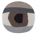 pretty eye chair pillow brown front