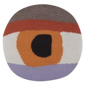 pretty eye chair pillow orange front